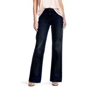 HELMUT LANG No Pocket High Rise Wide Leg Jeans!